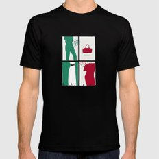 #theSliceSerie: It's all about Grass Green and Poppy Red Black SMALL Mens Fitted Tee