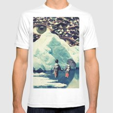 Surreal White SMALL Mens Fitted Tee