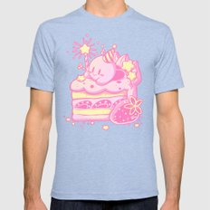 Kirby Cake Mens Fitted Tee Tri-Blue SMALL
