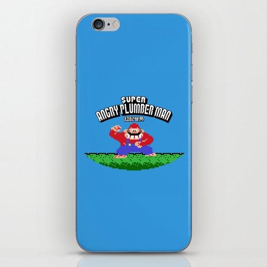 Super Angry Plumber Man iPhone & iPod Skin