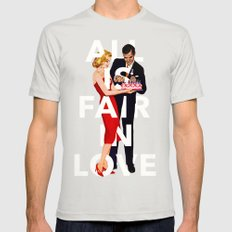 All Is Fair In Love Mens Fitted Tee Silver SMALL