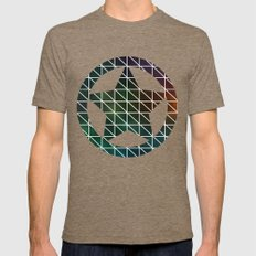 Stellar Geometric Mens Fitted Tee Tri-Coffee SMALL