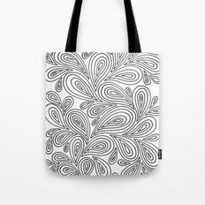 B and W Tote Bag