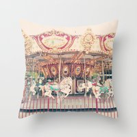 The Carousel  Throw Pillow
