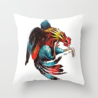 Cocks Throw Pillow
