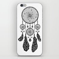 Dreamcatcher (Black & Wh… iPhone & iPod Skin