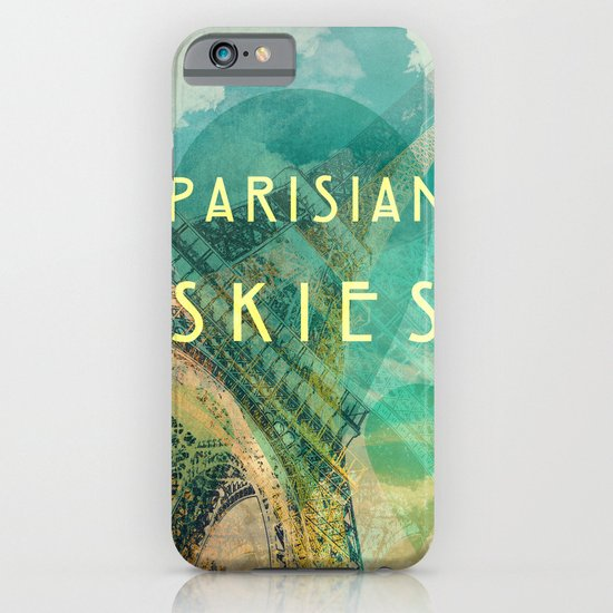 Songs and Cities: Parisian Skies iPhone & iPod Case