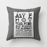 Eye Test - JAY Z Throw Pillow
