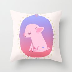 Puerquito Throw Pillow