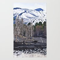 Vulcano Etna on the Isle of Sicily Rug