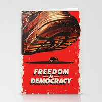 Freedom And Democracy Stationery Cards