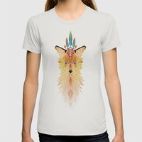 Fox Spirit  Womens Fitted Tee Silver SMALL