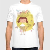 Baked Gold Mens Fitted Tee White SMALL