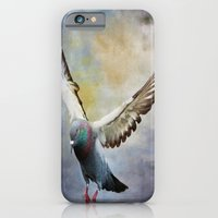 iPhone & iPod Case featuring Pigeon On Wing by Deborah Benoit