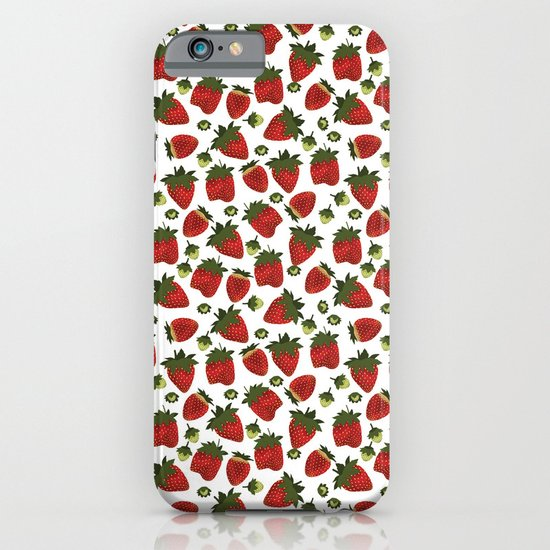 Strawberry Pattern iPhone & iPod Case