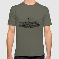 Troubled Waters Mens Fitted Tee Lieutenant SMALL