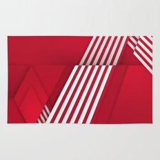 Optical illusion_red Rug