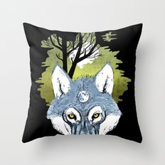 Wolf Phase Throw Pillow