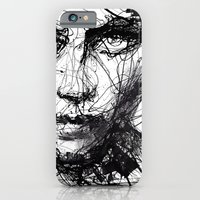 iPhone Cases featuring In trouble, she will. by agnes-cecile