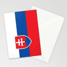 National flag of Slovakia Stationery Cards