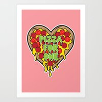 Pizza For One Art Print
