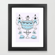 Let Them Wear Cake Framed Art Print