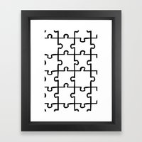 white puzzle Framed Art Print
