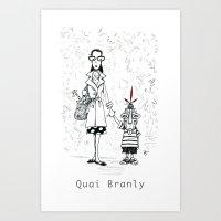 A Few Parisians by David Cessac: Quai Branly Art Print