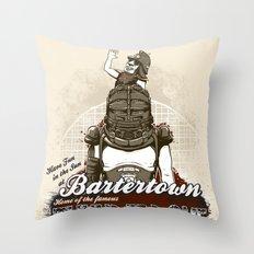 Visit Bartertown! Throw Pillow