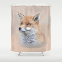Siona The Wild Fox Shower Curtain