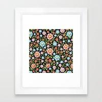 Ditsy Millefiori Pattern Framed Art Print