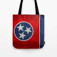 Tennessee State flag, Vintage version Tote Bag
