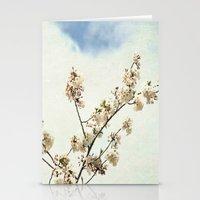 Stretching Cherry Blossom Stationery Cards