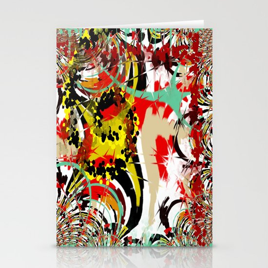 Abstract Funky Pattern Stationery Card
