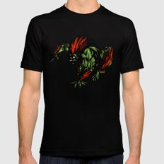 Blanka Rush! - Street Fighter Mens Fitted Tee Black SMALL