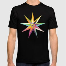Star Power 1 SMALL Black Mens Fitted Tee