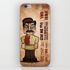 Ron Swanson 4 iPhone & iPod Skin
