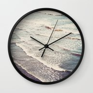 Wall Clock featuring Ocean Waves Retro by Kurt Rahn