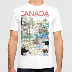 Canada (portrait version) White Mens Fitted Tee SMALL