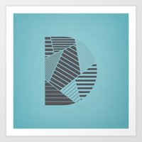 Letter D - Alphabet Art Print