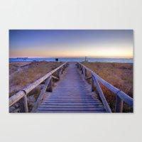 The path..., the beach.... Canvas Print