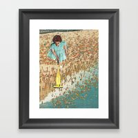 OCD Lady Framed Art Print