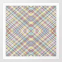 Weave 45 Mirror Art Print
