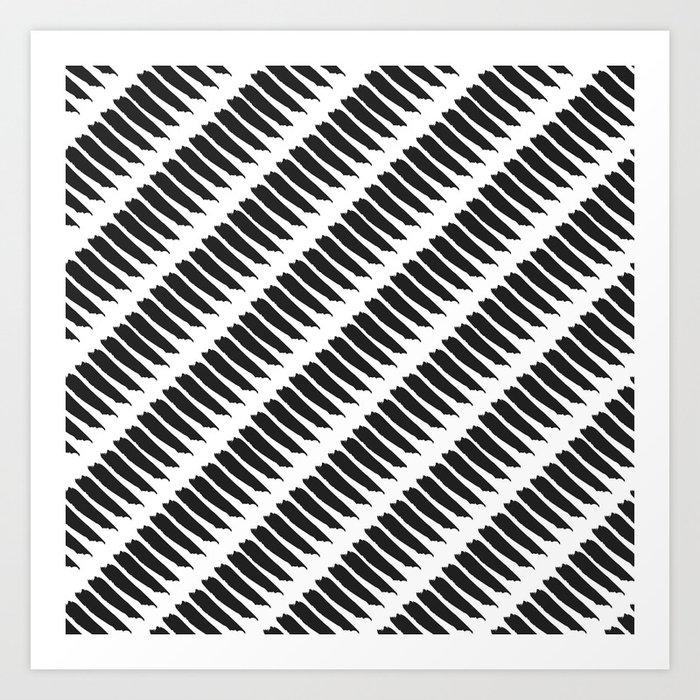 Black and white tiger stripes art print by pencil me in - Tiger stripes black and white ...