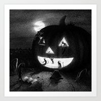 Drawlloween 2013: Pumpki… Art Print