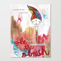 Be the Brush Bhoomie Canvas Print
