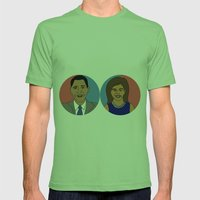 Obama, 2012 Mens Fitted Tee Grass SMALL
