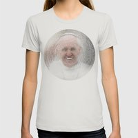 ArcFace - Papa Francesco Womens Fitted Tee Silver SMALL