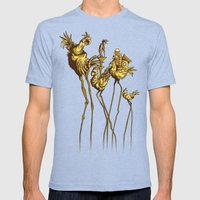 Dali Chocobos Mens Fitted Tee Tri-Blue SMALL
