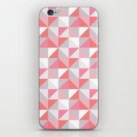 Peach Geometric; iPhone & iPod Skin